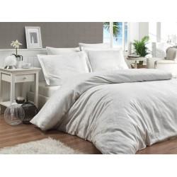 Луксозно спално бельо от 100% памучен сатен - жакард - SOFYA KREM от StyleZone