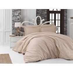Луксозно спално бельо от 100% памучен сатен - жакард - DORYNA EKRU от StyleZone
