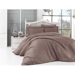 Луксозно спално бельо от 100% памучен сатен - жакард - CLOVIS VIZON от StyleZone