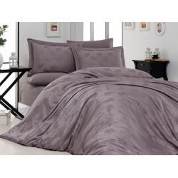 Луксозно спално бельо от 100% памучен сатен - жакард - MARELDA LEYLAK от StyleZone