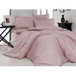 Луксозно спално бельо от 100% памучен сатен - жакард - SENTA PUDRA от StyleZone