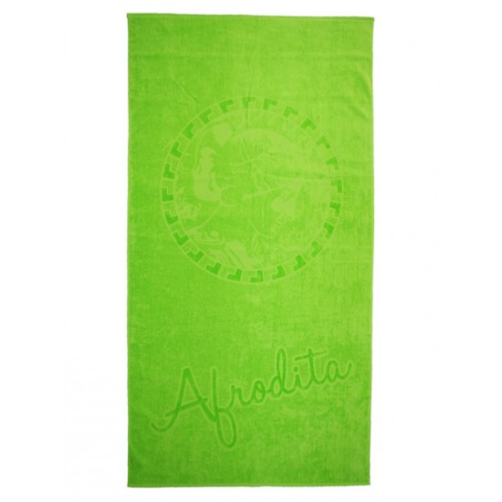 Едноцветна плажна кърпа от 100% памук - ЗЕЛЕНА от StyleZone