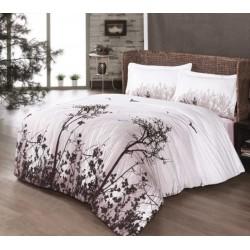 Дизайнерско спално бельо от 100% памук - ранфорс - Yakamoz V1 Brown от StyleZone