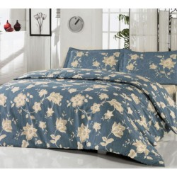 Нежно спално бельо от 100% памук ранфорс - Belinay V1 Blue от StyleZone