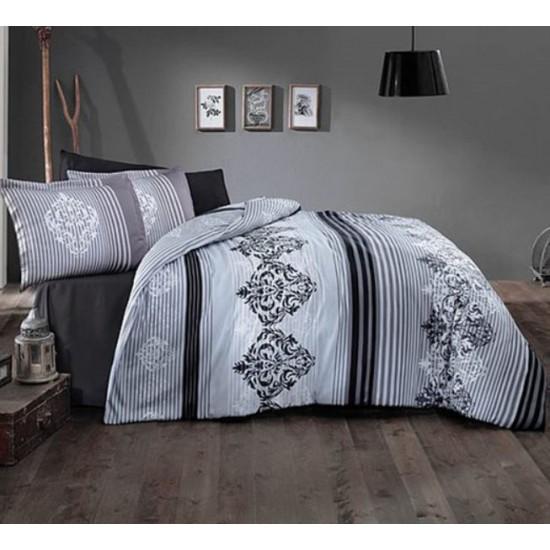 Стилно спално бельо от 100% сатениран памук - Marvella V2 Grey от StyleZone