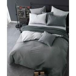 Двуцветно спално бельо от 100% памук ранфорс (светло сиво/тъмно сиво) от StyleZone