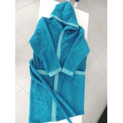 Халат за баня от висококачествен памук - ПЕТРОЛЕНО СИНЬО от StyleZone