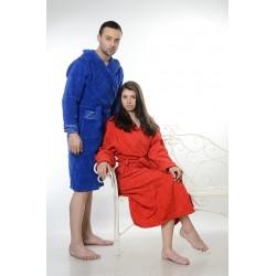 Едноцветен халат за баня 100% памук ритон - ЧЕРВЕН от StyleZone