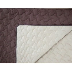 Двулицево шалте 100% памук (шоколад/крем) от StyleZone