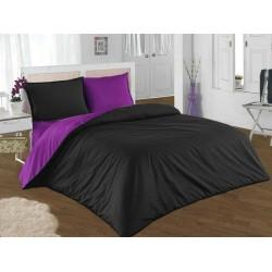 Двулицево шалте 100% памук (черно/лилаво) от StyleZone