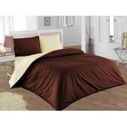 Двулицево шалте 100% памук (кафяво/крем) от StyleZone