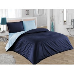 Двулицево шалте 100% памук (тъмно синьо/светло синьо) от StyleZone
