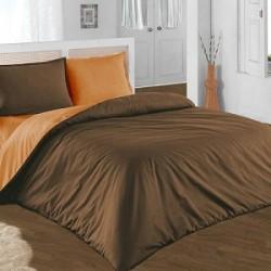 Двулицево шалте 100% памук (кафяво/оранжево) от StyleZone