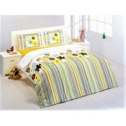 Спално бельо от 100% памук с олекотена завивка - БРАЙТ от StyleZone
