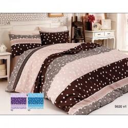 Спално бельо от 100% памук с олекотена завивка - МАРОН от StyleZone