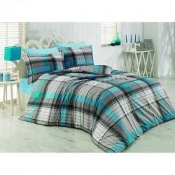 Спално бельо от 100% памук с олекотена завивка - АКВАМАРИН от StyleZone