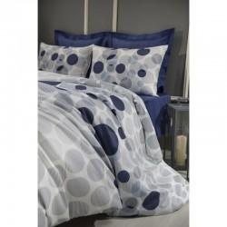 Спално бельо от 100% памук с олекотена завивка - МАКС НЕЙВИ от StyleZone