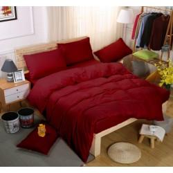 Едноцветно спално бельо със завивка -  БОРДО от StyleZone