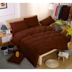 Едноцветно спално бельо със завивка -  ТЪМНО КАФЯВО от StyleZone