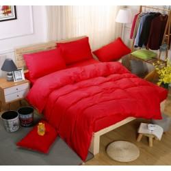 Едноцветно спално бельо със завивка -  ЧЕРВЕНО от StyleZone