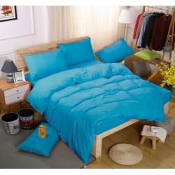 Едноцветно спално бельо със завивка -  МОРСКО СИНЬО от StyleZone