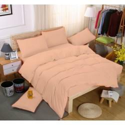Едноцветно спално бельо със завивка -  СЬОМГА от StyleZone
