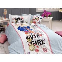 Юношеско спално бельо делукс от 100% памук  - Cute Girl от StyleZone