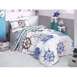 Юношеско спално бельо делукс от 100% памук - Marine от StyleZone