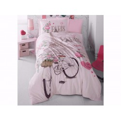 Юношеско спално бельо делукс от 100% памук - Paris Love от StyleZone