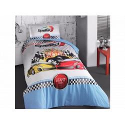 Юношеско спално бельо делукс от 100% памук - Racer от StyleZone