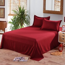Едноцветен долен чаршаф от 100% памук - БОРДО от StyleZone