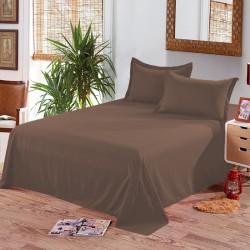 Едноцветен долен чаршаф от 100% памук - ЦВЯТ ШОКОЛАД от StyleZone
