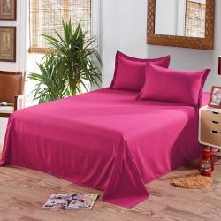 Едноцветен долен чаршаф от 100% памук - ЦИКЛАМА от StyleZone