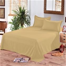 Едноцветен долен чаршаф от 100% памук - ЦВЯТ КАНЕЛА от StyleZone