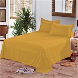 Едноцветен долен чаршаф от 100% памук - ПАТЕШКО ЖЪЛТО от StyleZone