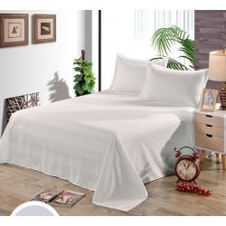 Едноцветен долен чаршаф от 100% памук - ЦВЯТ ЕКРЮ от StyleZone
