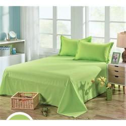 Едноцветен долен чаршаф от 100% памук - ЗЕЛЕНО от StyleZone