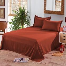 Едноцветен долен чаршаф от 100% памук - КЕРЕМИДЕНО ЧЕРВЕНО от StyleZone