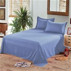 Едноцветен долен чаршаф от 100% памук - СВЕТЛО СИНЬО от StyleZone