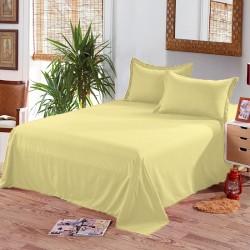 Едноцветен долен чаршаф от 100% памук - СВЕТЛО ЖЪЛТО от StyleZone