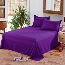 Едноцветен долен чаршаф от 100% памук - ТЪМНО ЛИЛАВО от StyleZone