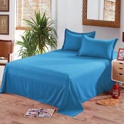 Едноцветен долен чаршаф от 100% памук - МОРСКО СИНЬО от StyleZone
