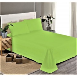 Едноцветен долен чаршаф от 100% памучен сатен - СВЕТЛО ЗЕЛЕНО от StyleZone