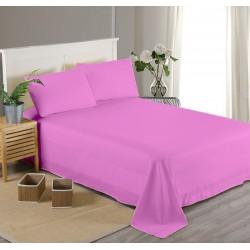 Едноцветен долен чаршаф от 100% памучен сатен - СВЕТЛО ЛИЛАВО от StyleZone