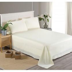 Едноцветен долен чаршаф от 100% памучен сатен - БЯЛО от StyleZone
