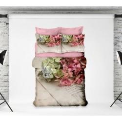 3D Спално Бельо Памучен Сатен - Hortensia от StyleZone