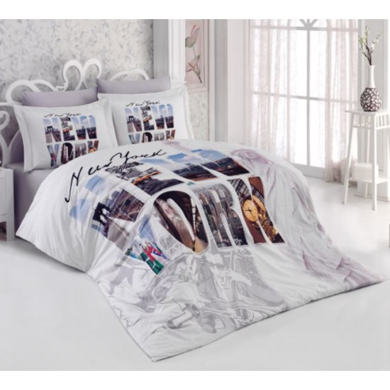 3D Спално Бельо 100% Памук Ранфорс - NY от StyleZone