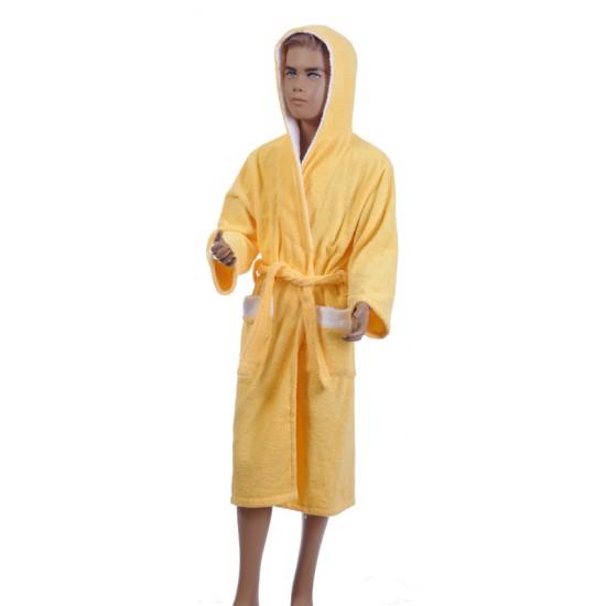 Детски халат за баня от 100% памук - ЖЪЛТ от StyleZone