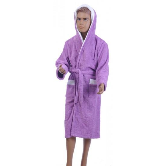 Детски халат за баня от 100% памук - ЛИЛАВ от StyleZone