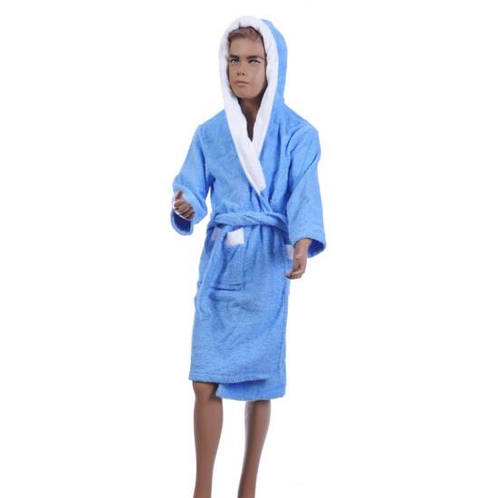 Детски халат за баня от 100% памук - СИН от StyleZone